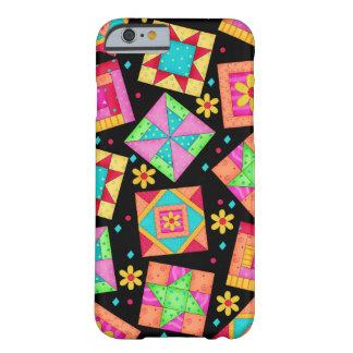 Black Patchwork Quilt Art iPhone 6 case