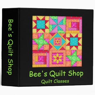 Black Patchwork Quilt Art Notebook Album 3 Ring Binder