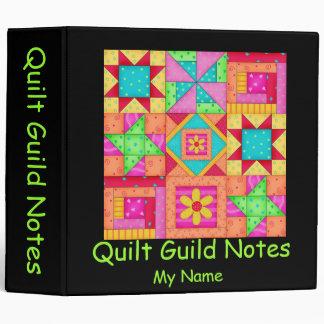 Black Patchwork Quilt Binder or Album
