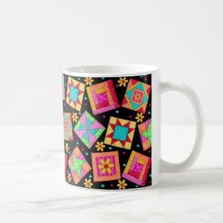 Black Patchwork Quilt Design Mug