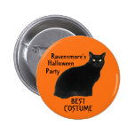 Black Patrol Cats Halloween Party Buttons