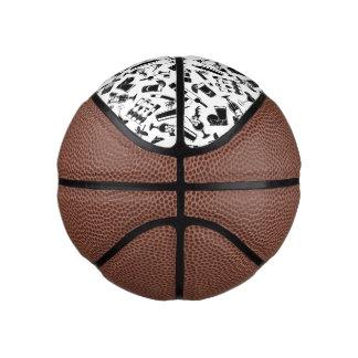 Black Pattern Cocktail Bar Basketball