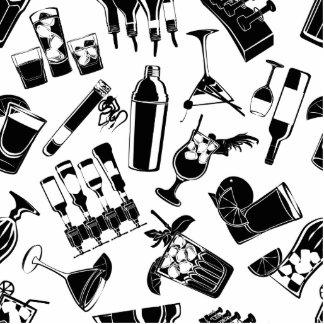 Black Pattern Cocktail Bar Cutout