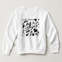 Black Pattern Cocktail Bar Sweatshirt
