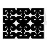 Black Pattern Greeting Card