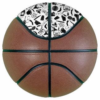 Black Pattern Hipster Basketball