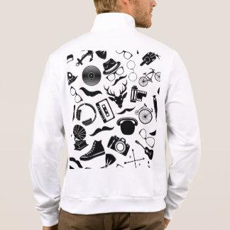 Black Pattern Hipster Jacket