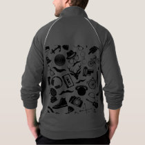 Black Pattern Hipster Jacket