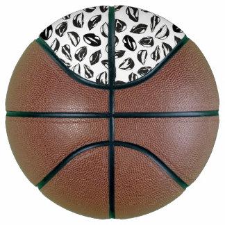 Black Pattern Lips Basketball