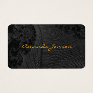 Black pattern Perl business cards