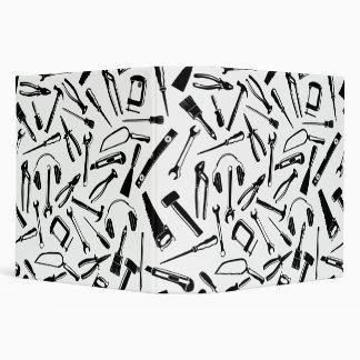 Black Pattern Tools 3 Ring Binder