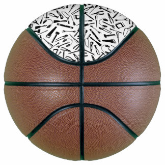 Black Pattern Tools Basketball
