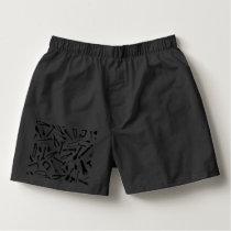 Black Pattern Tools Boxers