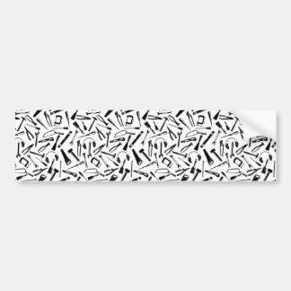Black Pattern Tools Bumper Sticker