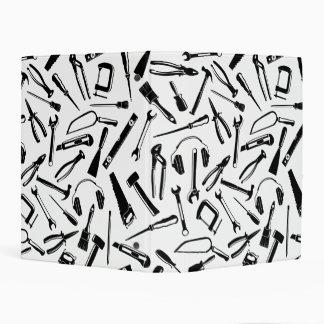 Black Pattern Tools Mini Binder