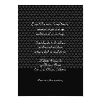 Black Pattern Wedding Invite