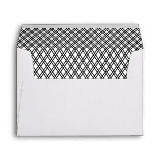 Black Patterned Envelope with Custom Address