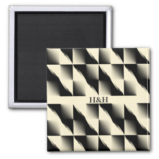 Black Patterns Magnet