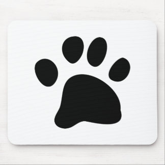 Black Paw Mouse Pad