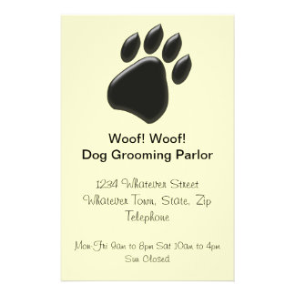 Black Paw Print Flyer