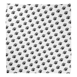 Black Paw Print Pattern Bandana