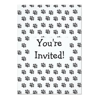 Black Paw Prints Invitation For Any Occasion