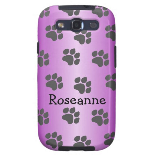 Black Paw Prints Just Add Name Galaxy SIII Covers
