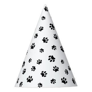 Black Paw Prints Party Hat
