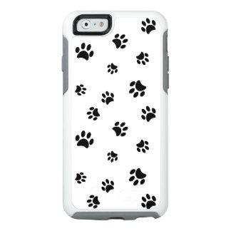 Black Paw Prints Pattern OtterBox iPhone 6/6s Case