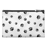 Black Paw Prints Pattern Travel Accessories Bags