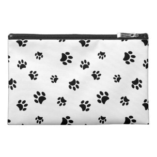 Black Paw Prints Travel Accessories Bags