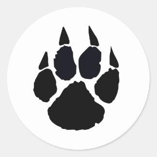 Black Paw Stickers
