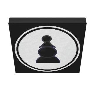 Black Pawn Chess Canvas Print