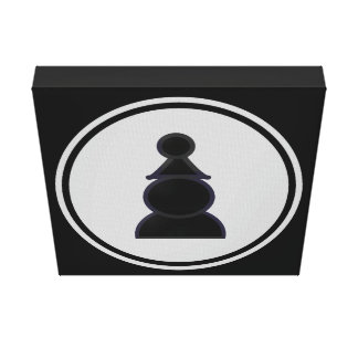 Black Pawn Chess Gallery Wrap Canvas