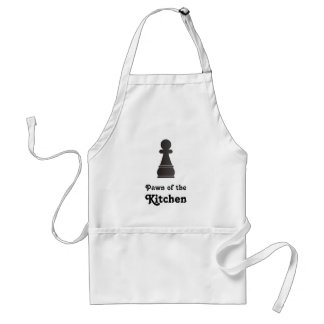 Black Pawn Chess Piece Adult Apron