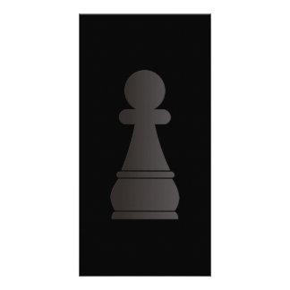 Black Pawn Chess Piece Card