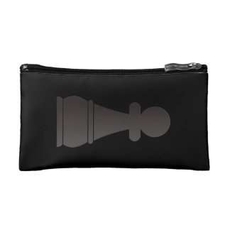 Black Pawn chess piece Cosmetic Bag
