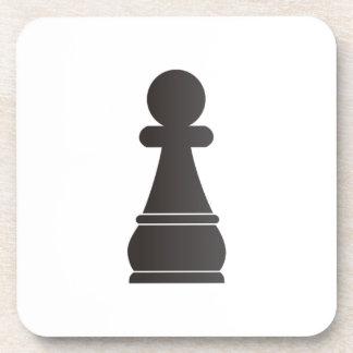 Black Pawn Chess Piece Drink Coaster