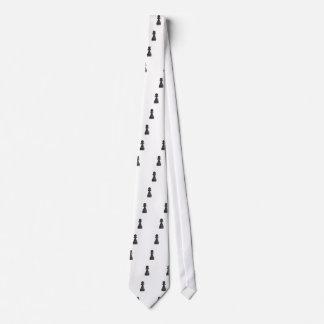 Black Pawn Chess Piece Neck Tie