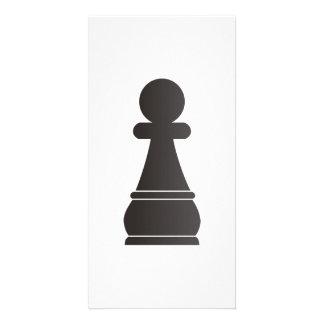 Black Pawn chess piece Photo Card