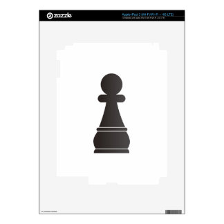 Black Pawn chess piece Skin For iPad 3