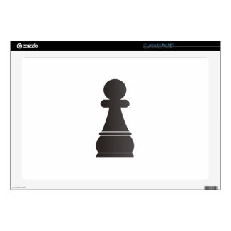 Black Pawn Chess Piece Skin For Laptop