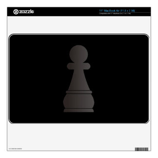 Black Pawn Chess Piece Skins For The MacBook