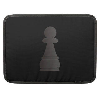 Black Pawn Chess Piece Sleeves For MacBooks