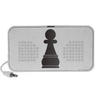 Black pawn chess piece travelling speaker