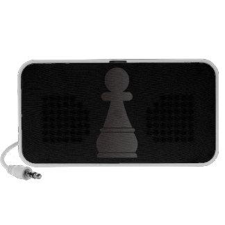 Black pawn chess piece speakers