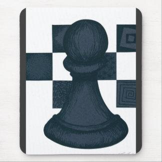 Black Pawn Mouse Pad