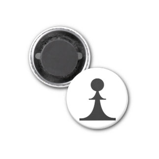black pawn (you need 8) 1 inch round magnet