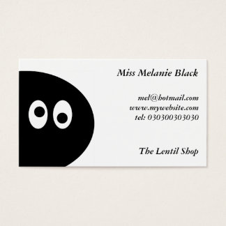 Black Pea Man Business Card