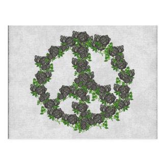 Black Peace Roses Postcard